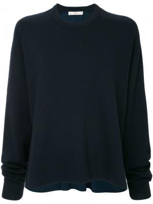 Трикотажный свитер Tibi. Цвет: синий