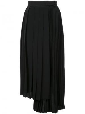 Плиссированная юбка Robert Rodriguez. Цвет: черный