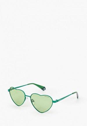 Очки солнцезащитные Polaroid. Цвет: зеленый