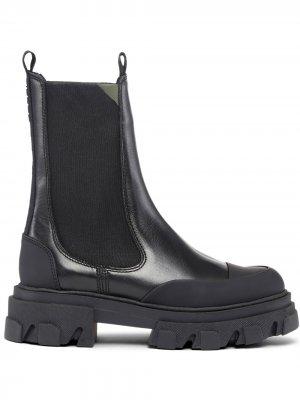 Массивные ботинки челси GANNI. Цвет: черный