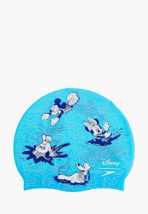 Шапочка для плавания Speedo. Цвет: голубой
