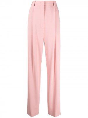 Прямые брюки с завышенной талией PAUL SMITH. Цвет: розовый