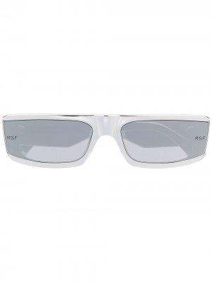 Солнцезащитные очки в квадратной оправе Retrosuperfuture. Цвет: серебристый