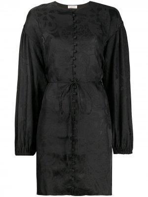Платье с цветочным принтом Stine Goya. Цвет: черный