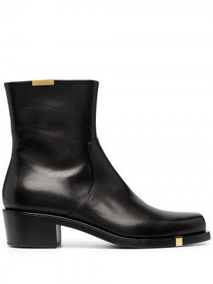 Ботинки с металлическим декором Rochas. Цвет: черный