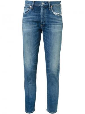 Укороченные джинсы кроя скинни Citizens Of Humanity. Цвет: синий