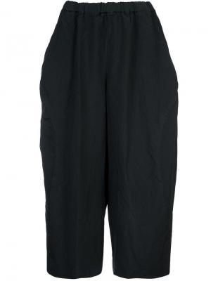Широкие укороченные брюки свободного кроя Comme Des Garçons. Цвет: черный