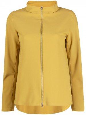 Куртка на молнии с воротником-воронкой Herno. Цвет: зеленый