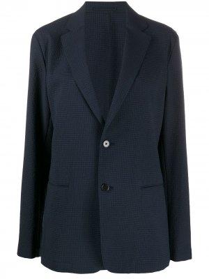Фактурный пиджак Theory. Цвет: синий