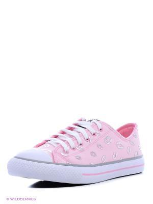 Кеды 4U. Цвет: бледно-розовый, серебристый