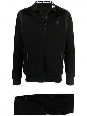 Спортивный костюм с контрастными вставками Philipp Plein. Цвет: черный