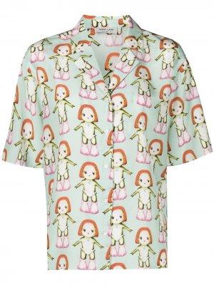 Рубашка Imo с принтом Margot Sandy Liang. Цвет: зеленый