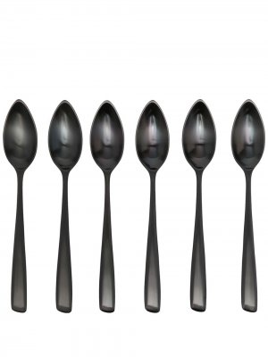 Набор из шести десертных ложек коллаборации с Serax Ann Deumelemeester X. Цвет: черный