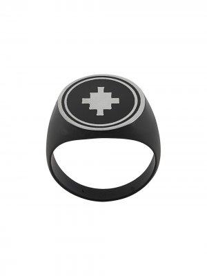 Перстень с логотипом Marcelo Burlon County of Milan. Цвет: черный