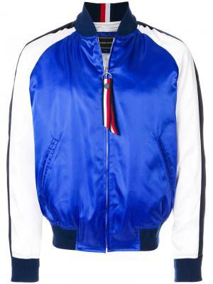 Куртка-бомбер Tommy Hilfiger. Цвет: синий