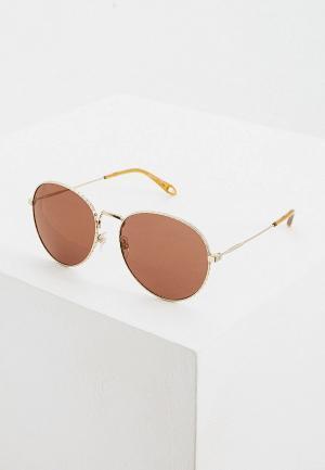 Очки солнцезащитные Givenchy. Цвет: золотой