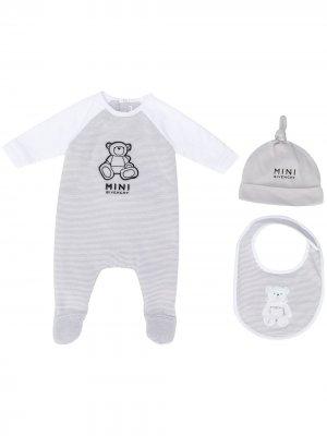 Комплект для новорожденного с вышивкой Givenchy Kids. Цвет: коричневый