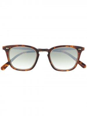 Солнцезащитные очки в квадратной оправе Garrett Leight. Цвет: коричневый