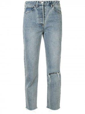 Укороченные джинсы Thalia с прорезями We Are Kindred. Цвет: синий