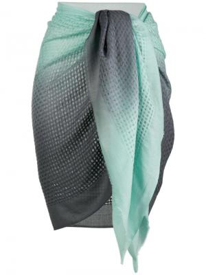 Парео Marinella тканой фактуры Tara Matthews. Цвет: синий