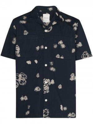 Рубашка Brandon с графичным принтом Wood. Цвет: синий