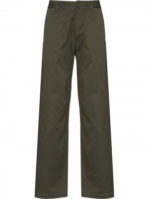 Прямые брюки Stefan Wood. Цвет: зеленый