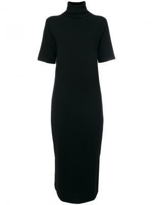 Curved hem maxi dress Allude. Цвет: чёрный