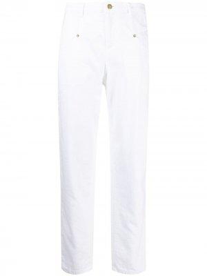 Прямые джинсы Ermanno. Цвет: белый