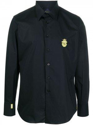 Рубашка с вышитым логотипом Billionaire. Цвет: черный