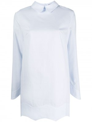 Рубашка с фестонами 12 STOREEZ. Цвет: синий