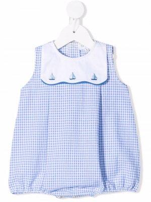Боди с вышивкой Siola. Цвет: синий