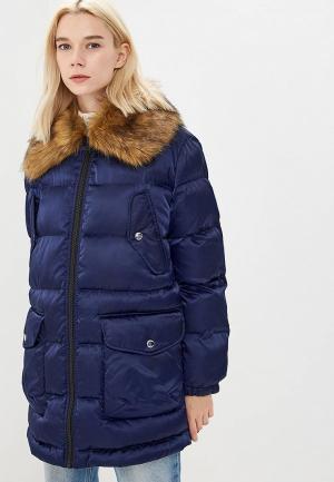 Куртка утепленная Love Moschino. Цвет: синий