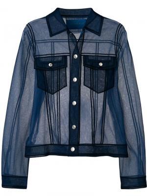 Прозрачный топ-рубашка Viktor & Rolf. Цвет: синий