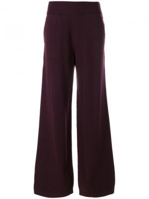 Широкие вязаные брюки Barrie. Цвет: розовый
