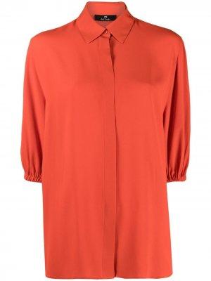 Рубашка с пышными рукавами PS Paul Smith. Цвет: красный