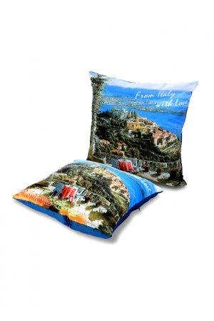 Подушка декоративная 35х35 GIFTNHOME GIFT'N'HOME. Цвет: голубой