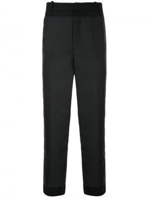 Укороченные брюки в тонкую полоску Wooyoungmi. Цвет: синий