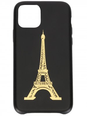 Чехол Eiffel Tower для iPhone 11 Pro Vetements. Цвет: черный