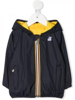 Непромокаемая куртка Jacques с капюшоном K Way Kids. Цвет: синий