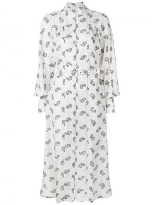 Paisley stamp Whitewave polo dress Zimmermann. Цвет: нейтральные цвета