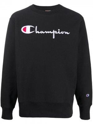 Толстовка с вышитым логотипом Champion. Цвет: черный