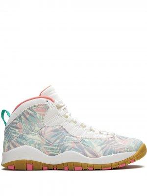Кроссовки Air  10 Retro Jordan. Цвет: розовый