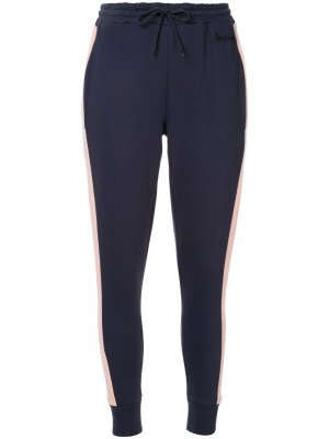 Спортивные брюки с контрастными полосками Être Cécile. Цвет: синий