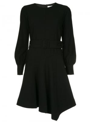 Расклешенное платье с поясом Derek Lam 10 Crosby. Цвет: черный