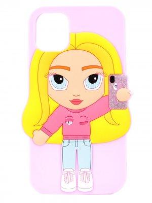 Чехол для iPhone 11 Chiara Ferragni. Цвет: розовый