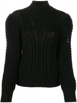 Джемпер фактурной вязки с высоким воротником Dondup. Цвет: черный