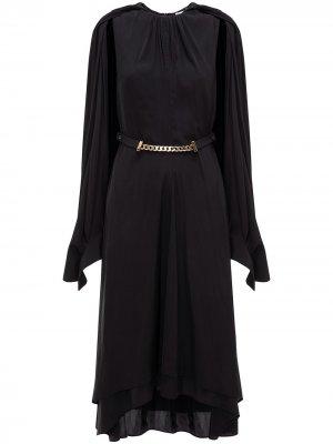 Платье с кейпом JW Anderson. Цвет: черный
