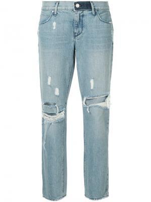 Зауженные джинсы с рваными деталями Rta. Цвет: синий