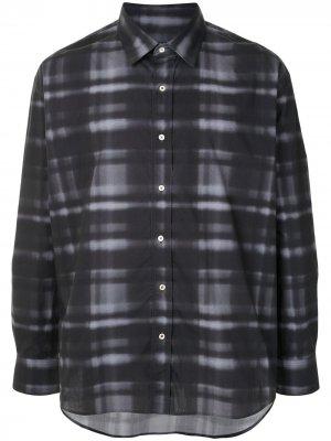 Checked button-up shirt Qasimi. Цвет: черный