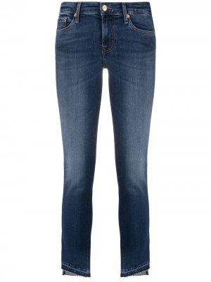 Узкие джинсы Pyper с диагональными манжетами 7 For All Mankind. Цвет: синий